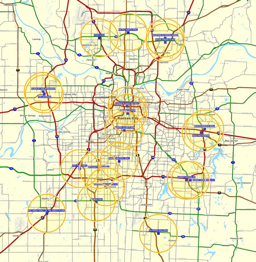 Map Of Kansas City Bnhspine Com